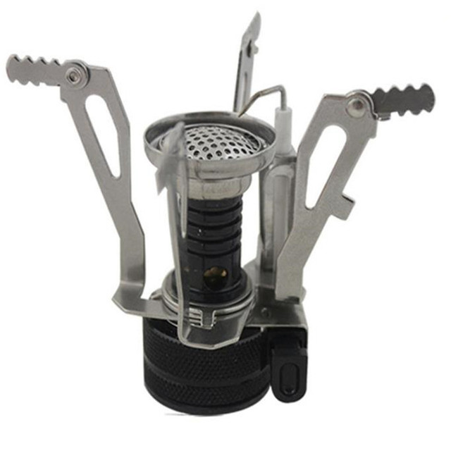 Ultra Light Outdoor Mini Camping Gas Stove One Piece Camping Outdoor Stove Camping Traveling Equipment Folding Design Cook Kit