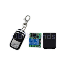 Free shipping long range 433MHz/315MHz metal wireless remote controller key switch with 2 CH+remote shell+remote receiver-JS321