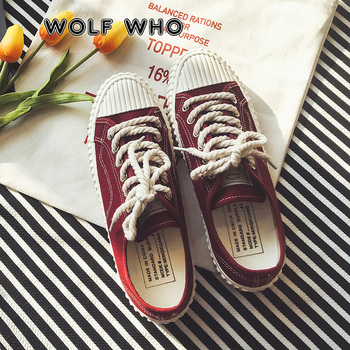 WOLF WHO Men Canvas Shoes Flats Casual Shoes Mocassin Male Footwear Classic Plimsolls Lace Up Espadrilles Tenis Masculino X-087
