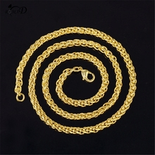 Necklace Women Punk Miami Cuban Choker Collar Statement Hip Hop Big Chunky Aluminum Golden Thick Chain Jewelry A30