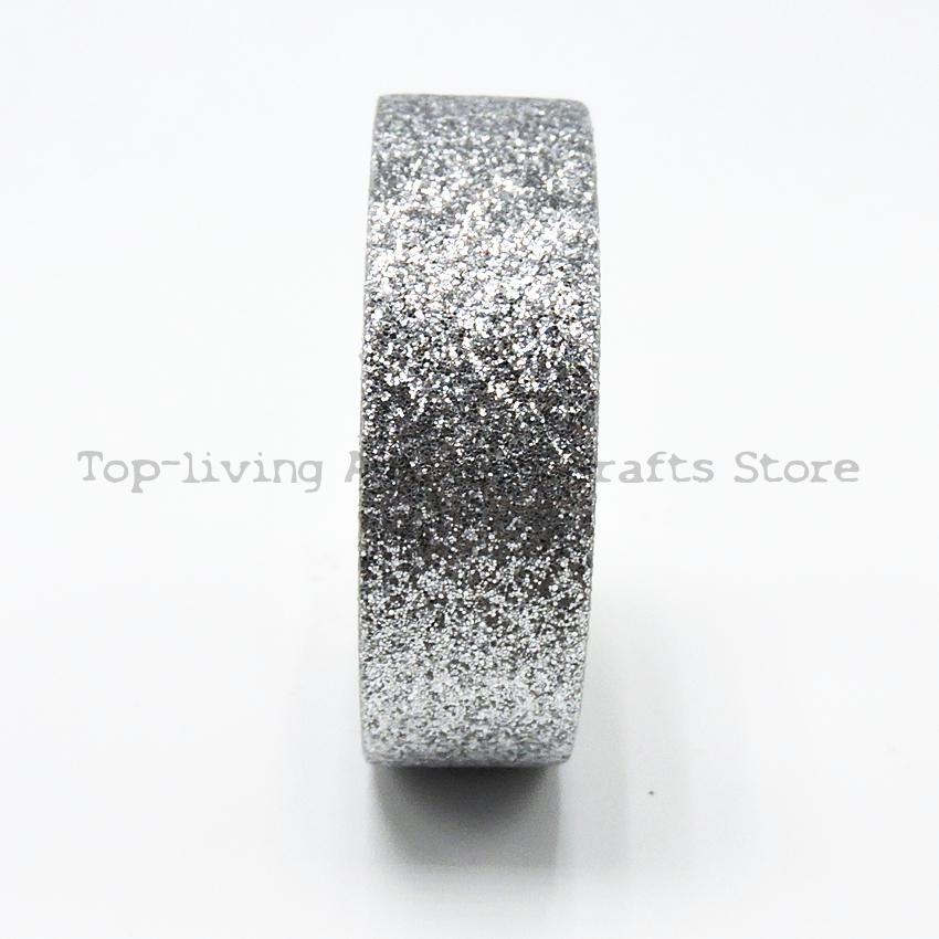 Silver Giltter Washi Tape Length Kawaii Scrapbooking Tools Japanese Stationery Scrapbook