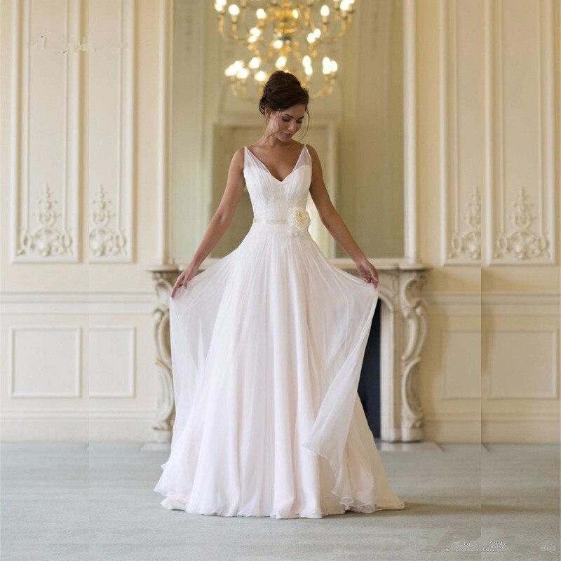 kurti 2018 Summer Chiffon casamento Spaghetti Straps prom Sweetheart Beach Bridla Gowns vestido de noiva   Bridesmaid     Dresses