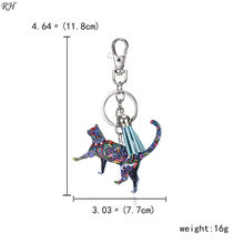 Acrylic Tassel Animal Key chain Keychain Dog Horse Pig Cat Pendant Holder Key Ring Keyring Bag Charm Jewelry For Women Gifts keychain acrylic man key chain identity v women key ring chain for pants pendant kids key holder jewelry brelok kael invoker