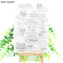 YPP CRAFT I Love Books Transparent Clear Silicone Stamp/Seal for DIY scrapbooking/photo album Decorative clear stamp sheets