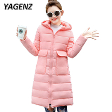 Winter Women Jacket Warm Hooded Coat 2018 Fashion Slim Down cotton Long Coat Thick Jacket Student Outerwear Parkas Lady Clothing
