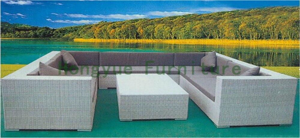 Factory wholesale living room combination rattan sofa furniture 4 pcs pastoralism home indoor outdoor rattan sofa for living room