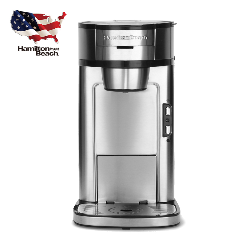 где купить American Coffee Machine Fully Automatic Small Single Cup Drip Adjustable Shades Trickling Filter No Need for Filter Paper по лучшей цене