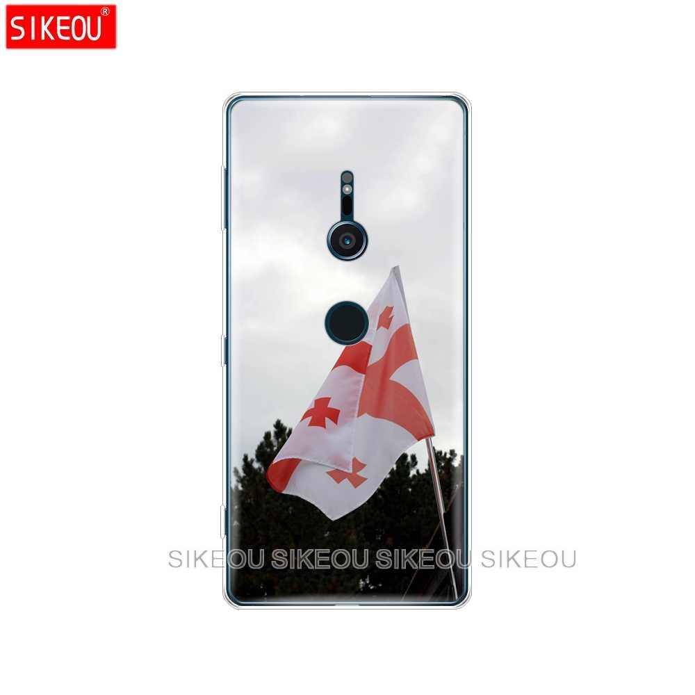 Pokrowiec na telefon silikonowy do sony xperia XA1 XA2 ULTRA PLUS L1 L2 XZ1 XZ2 kompaktowy XZ PREMIUM Georgia Grunge Flag