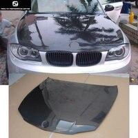 E87 1 series 120i Carbon Fiber Front engine Hood Bonnets engine Covers for BMW E87 125i 04 11