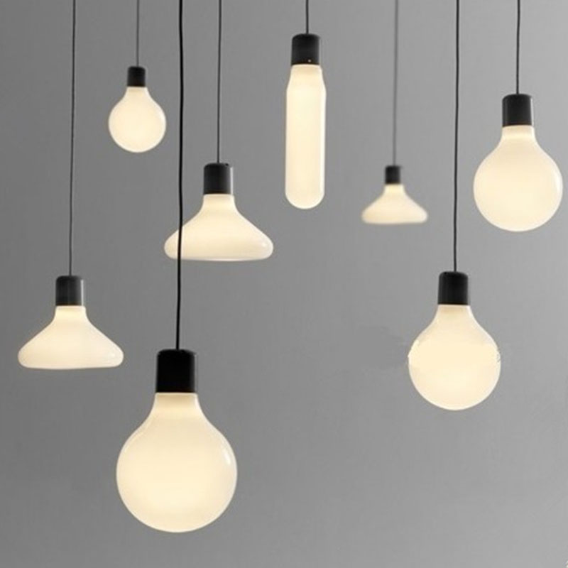 Pendant Light New Modern white glass Pendant Light single head pendant lamps for Shop Bar coffee store living room Decor lampsPendant Light New Modern white glass Pendant Light single head pendant lamps for Shop Bar coffee store living room Decor lamps