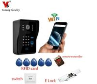 WiFi Video Door Phone Doorbell Home Security Door Wireless Intercom P2P With Electronick Lock RFID Keyfobs