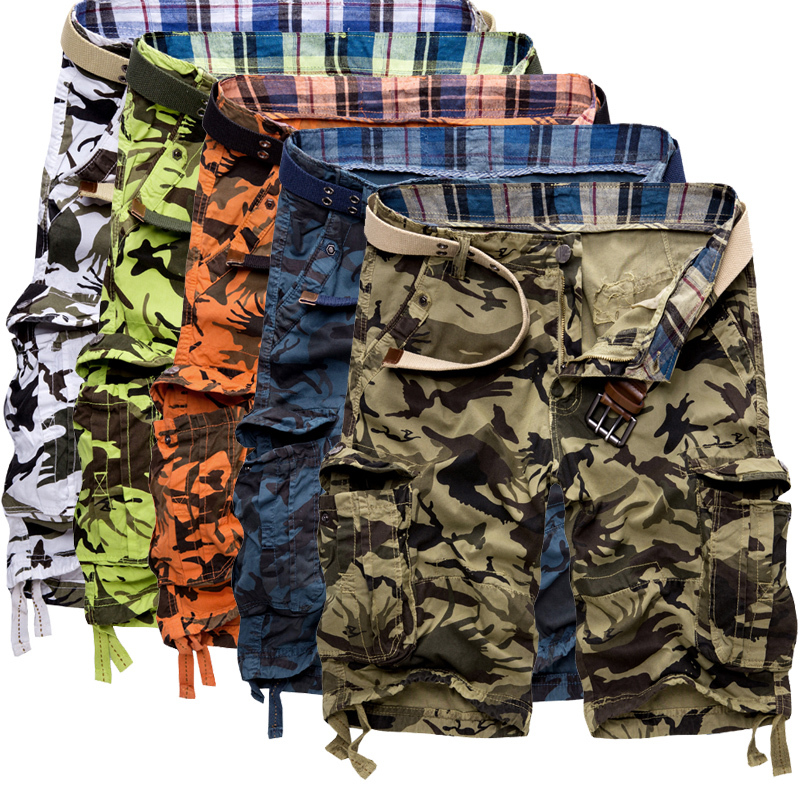 Summer Mens Sports Pants Military Combat Army Cargo Short Overall Camo Shorts