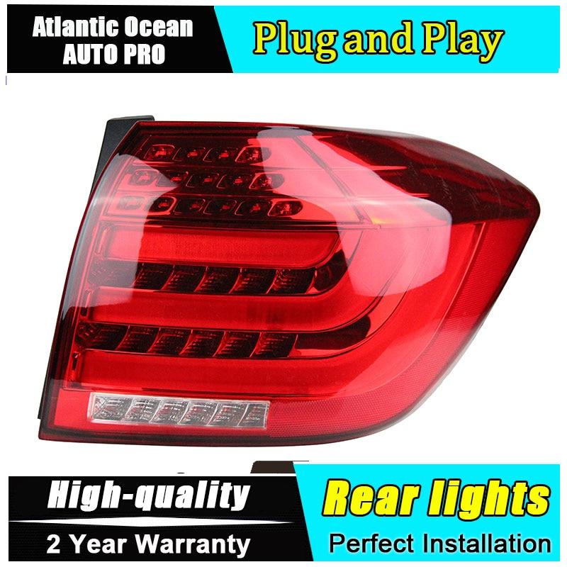 JGRT Car Styling for Toyota Highlander Taillights 2012 for Highlander LED Tail Lamp LED Rear Lamp Fog Light For 1Pair ,4PCS