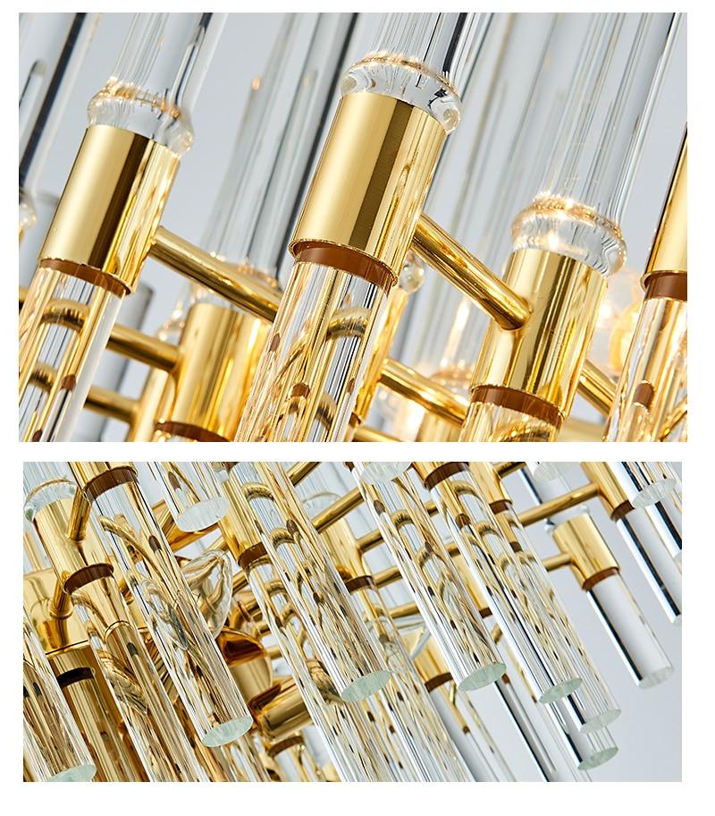 2018 New Arrival Chandelier Lighting Crystal LED Chandelier Light Fixture Golden hanglamp Lustre for Dining Living Room Lamp (3)