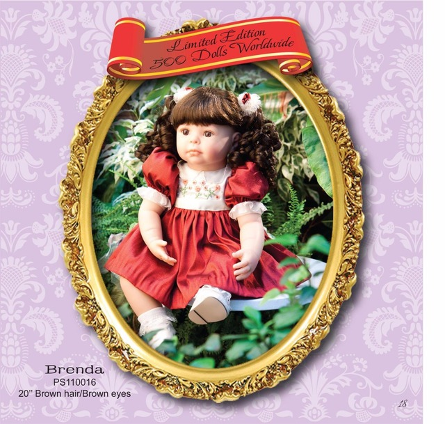 50cm Silicone Vinyl Reborn Baby Doll Lifelike Newborn Princess Babies Doll Girl Brinquedos Birthday Gift Play