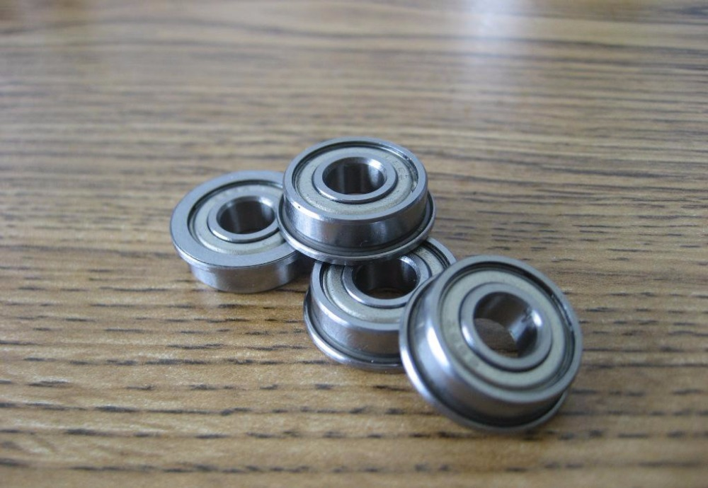 50pcs/lot  Flanged bearing  F624ZZ  miniature flange deep groove ball bearings F624-2Z  4*13*5 mm
