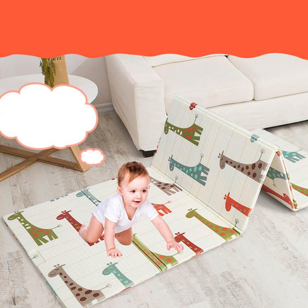 Bébé XPE Cartoon jouer tapis pliant enfants tapis Puzzle tapis anti-dérapant couverture salon bébé jeu couverture pour enfants