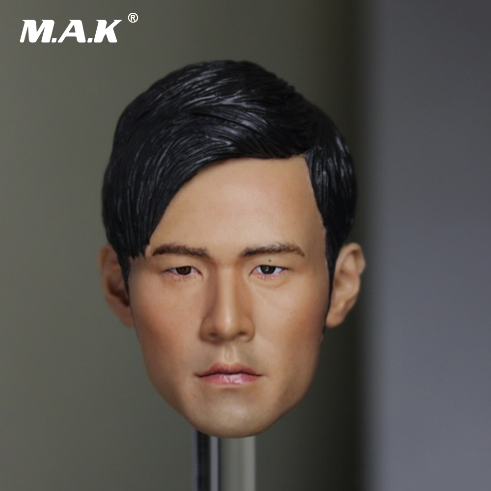 1/6 Scale Accessories Male Figure Asia King Jay Chou Head Carved Doll Head Shape Without Neck for 12