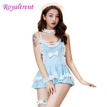 Exotic Apparel Sexy Lingerie Maid Uniform Temptation Role Playing Home Wear Lady Large Size Suit Babydolls & Chemises
