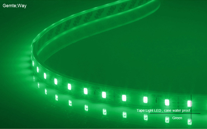 Fllexible Strip  led Light Case water proof-Green