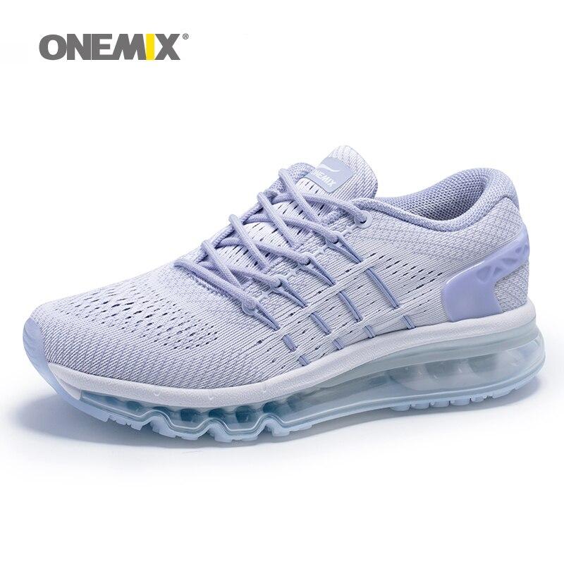 ONEMIX Max chaussures de course pour femmes maille respirant baskets athlétiques sport Unique chaussure langue coussin extérieur marche baskets