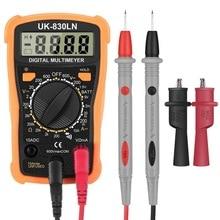 Handskit Mini LCD Digital Multimeter Pocket Backlight Multimeter Volt Amp Ohm Voltage Meter Tester with Probles 2 Clip Tools digital multimeter bm8300z pocket multimeter ampere volt ohm tester