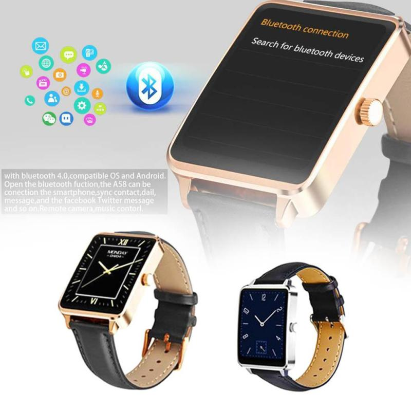 New heart rate Bluetooth 4.0 Smart Watch Fashion Metal Touch IPS Screen Watch IP53 Waterproof Multifunction Smartwatch for Phone multifunction pulse heart rate calorie wrist watch silver black