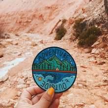 Путешественник на патч отправляйтесь Исследуйте открытый снаружи Кемпинг Приключения значок вышитая аппликация патчи