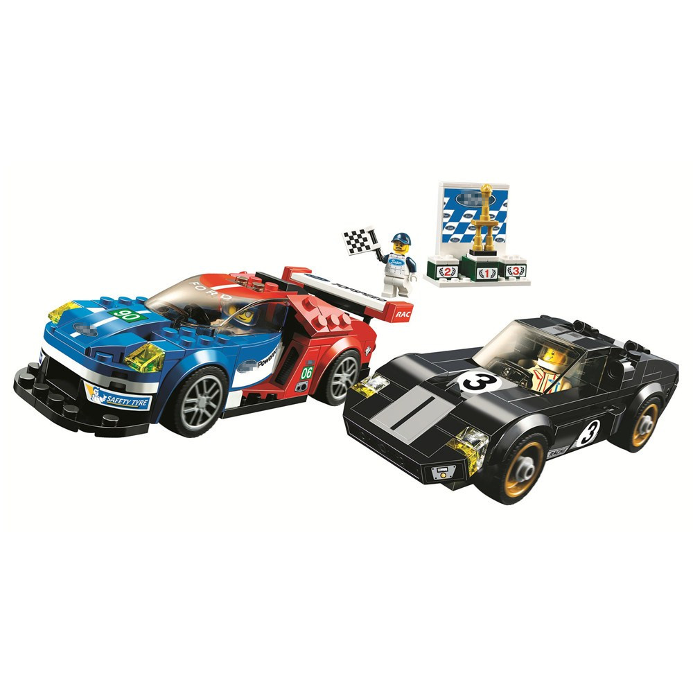 SPEED CHAMPIONS 2016 GT 1966 Ford Gt40 Car Building Blocks Sets Bricks Kit Classic City Model Kids Toys Gift Compatible LegoingsSPEED CHAMPIONS 2016 GT 1966 Ford Gt40 Car Building Blocks Sets Bricks Kit Classic City Model Kids Toys Gift Compatible Legoings