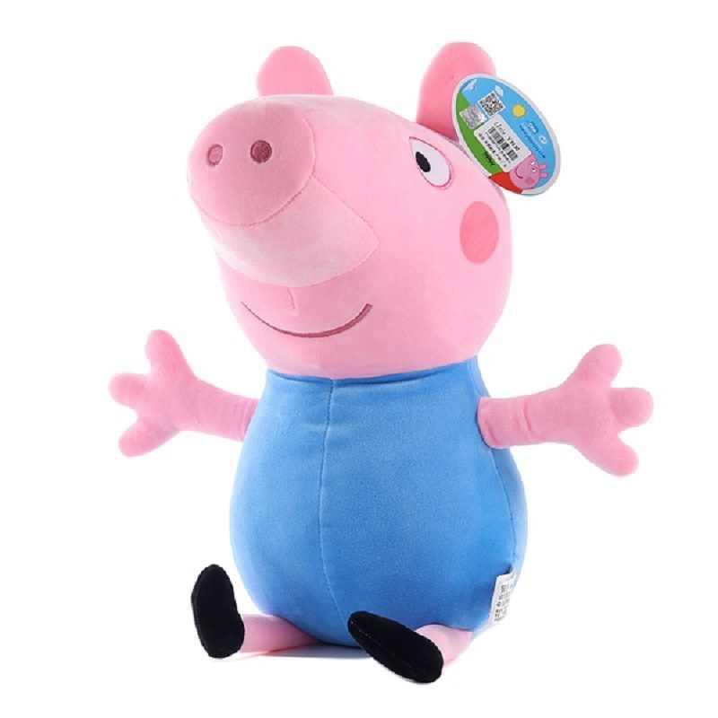 Peppa Pig 19 см розовый поросенок плюшевые игрушечные лошадки высокое качество Лидер продаж Мягкие плюшевые кукла животного из мультфильма для детей семья Вечерние
