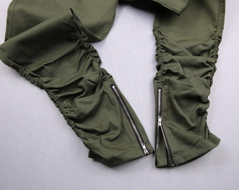 HZIJUE kaki / zwart / groen Koreaanse hiphop mode broek met ritsen - Herenkleding - Foto 6