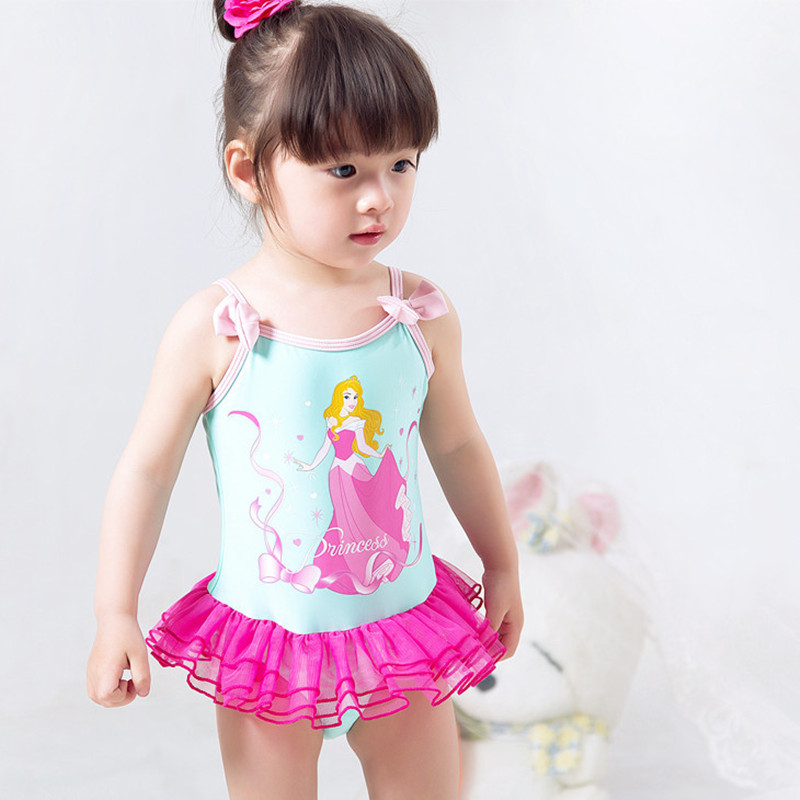 Summer Gril /Baby Swimsuit Sleeping Beauty Princess swimwear One Piece Bubble Skirt Dress Kids Beachwear Surfing Swimming Suits