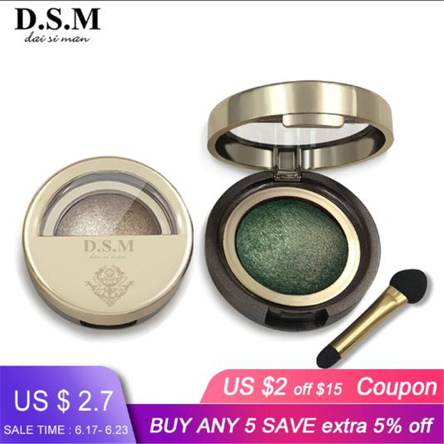 D.S.M Brand New Mineralize Eye Shadow Waterproof Long-lasting Cosmetic Eyes Perfect Shades Luminous Pigment Makeup Eyeshadow