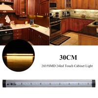 Dimmable Waterproof 30CM 2835 SMD 24 LED Bar Light Under Cabinet LED Strip Lighting Touch Dimming