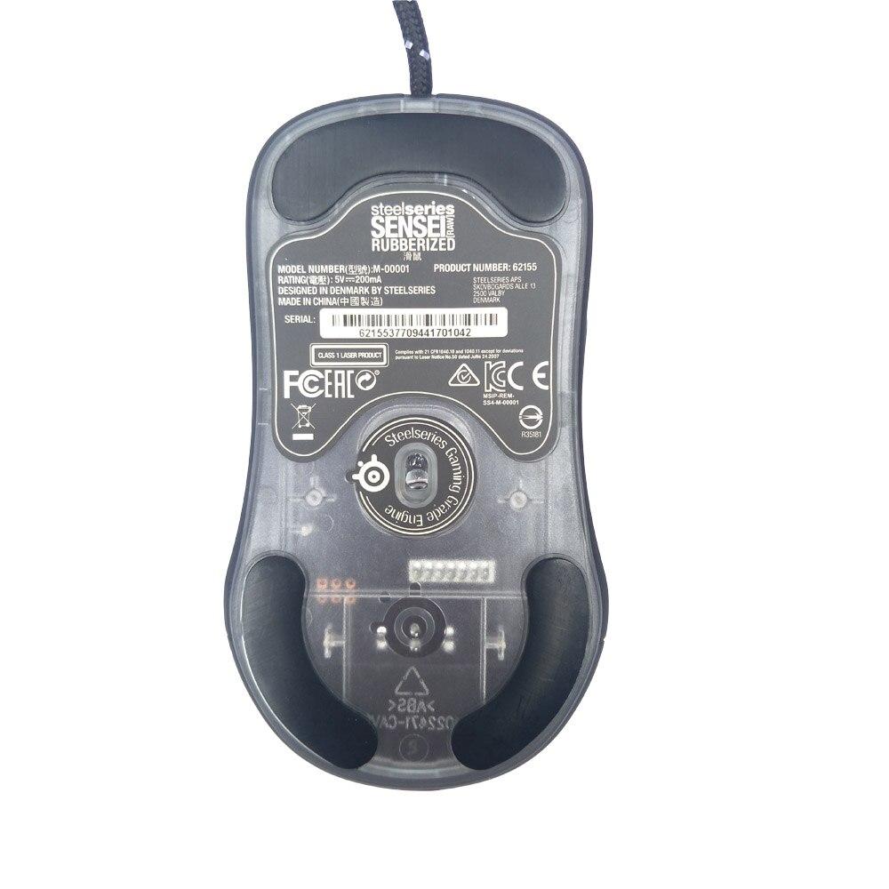 100% Original Steelseries SENSEI peau brute noir 5600 DPI Laser souris de jeu, PC Gamer 4G souris de jeu optique prix le plus bas - 4