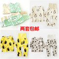 12 colors cotton KIDS  panda PENGIN  boys clothing sets kids clothes long t shirts+pants 2 pcs pajama sets kikikids CHRISTMAS