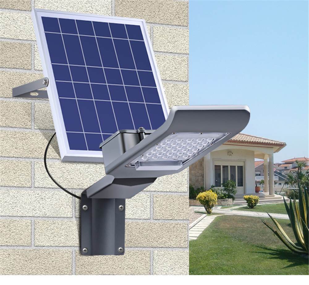 solar panel powered garden lamp 30w led remote control street light