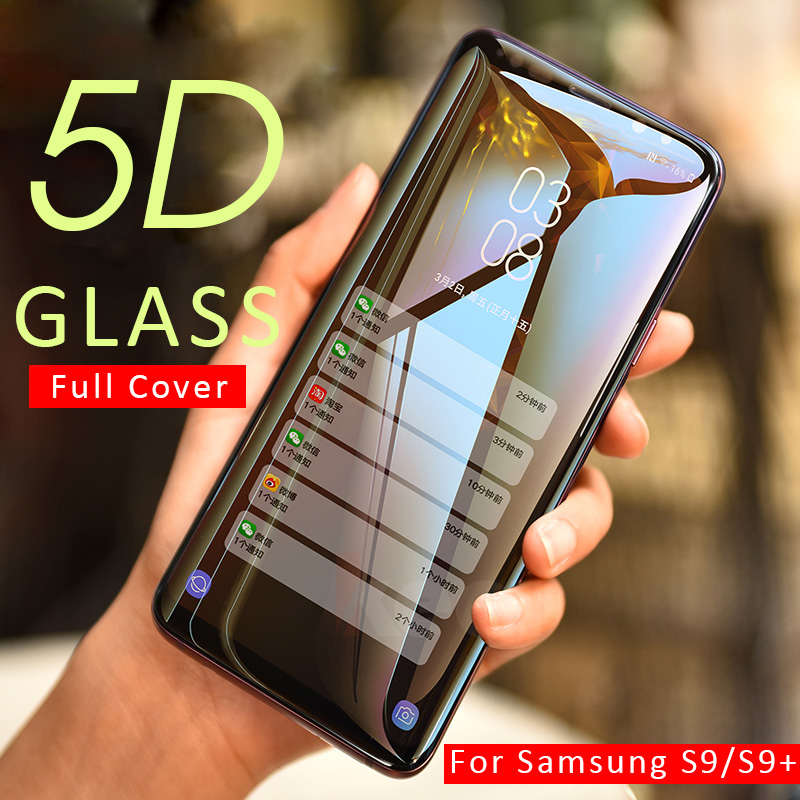 5d Full Cover Tempered Glass On The For Samsung Galaxy S8 S9 Plus Note 8 9 Screen Protector For Samsung S7 S6 Edge Glass Film