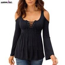 Elegantní tričko s dlouhým rukávem a odhalenými rameny