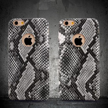 Vintage Python Snake Style PU Leather Plastic Case for iPhone 6 Plus Luxury Fashion Phone Cover