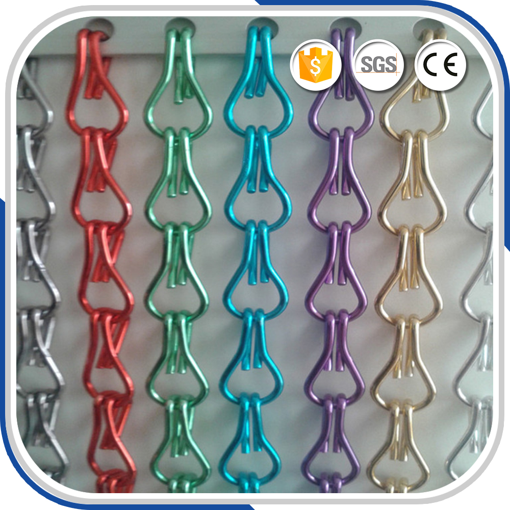 Aluminum Metal Chain Fly Screen For Door Curtain In Window Screens