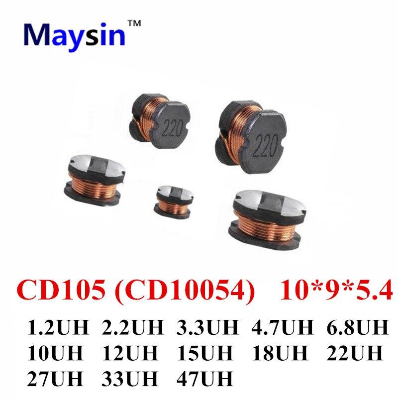CD10054 10*9*5.4 CD105 1.2UH 2.2UH 3.3UH 4.7UH 6.8UH 10UH 12UH 27UH 18UH 15UH 22UH 33UH 47UH 20%-in Pezzi di ricambio e accessori da Elettronica di consumo su AliExpress - 11.11_Doppio 11Giorno dei single 1