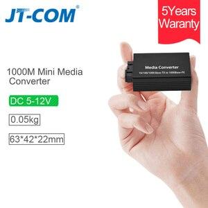 Image 2 - DC 5V 12V 20KM 1000M Mini Gigabit Media Konverter Glasfaser bis RJ45 Einzigen Modus ethernet Schalter Optische Transceiver SM SC FTTH
