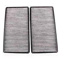 Fit BMW AC Cabin Air Filter Charcoal Carbon OEM Quality 64116921019 2pcs 64119272643 E65 E66 E67