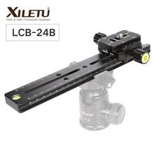 XILETU LCB 24B Track Dolly Slider โฟกัส Focus Rail Slider & Clamp พร้อมแผ่น QR พบ Arca Swiss สำหรับกล้อง DSLR nikon Canon