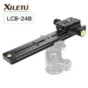 Image 1 - XILETU LCB 24B Track Dolly Slider фокусировочная фокусировка рельса слайдер и зажим с QR пластиной подходит Arca Swiss для DSLR камеры Nikon Canon