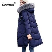 מעיל חורף הגעה חדשה 2017 נשים בגדי נשים מעיל ארוך להאריך ימים יותר חמים עבה parka jaqueta inverno feminina