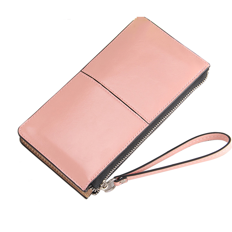 Women Wallet Leather Card Coin Holder Money Clip 2017 Candy Color Wristlet Zipper Famous Brand Long Clutch Phone Female Purse wristlet travel women long wallet double zipper female clutch coin card phone card holder brand leather casual dollar cute purse