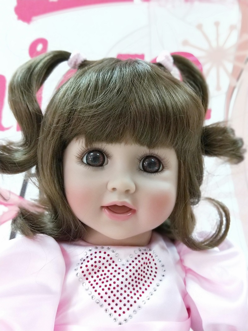 Boutique 60cm Silicone Reborn Baby Doll Toys With brown eyes Princess Dolls Lovely Birthday Gift Girls Brinquedos dollmai
