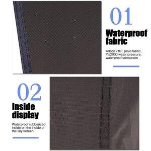 Image 2 - خفيفة في الهواء الطلق المحمولة المطر قماش القنب المظلة خيمة معلقة كبيرة متعددة الوظائف خيمة قابلة للطي الأشعة فوق البنفسجية برهان مقاوم للماء